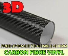 CARBON FIBRE VINYL WRAP CAR STICKER [3D] Black 1500MM x 400MM SIZE