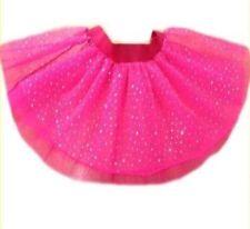 Neon Pink Tutu Skirt Sparkle Diamante i love 80's fancy dress hen party fun run