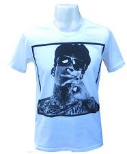 Mens T-shirt Funny Vintage Retro Lil Wayne Sexy Tee Shirt Wiz Khalifa Tshirt New