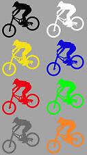 Aufkleber Sticker Downhill Fahrer Mountainbike MTB Trial Fahrrad BMX Sport