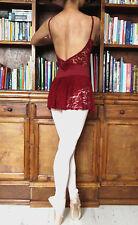 Lady girl women ballet dance low back lace dress leotard - New on offer