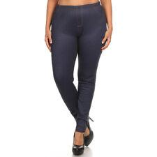 Fur Lined Plus Size Jeggings Jean Leggings Pocket Winter Warm 1X 2X 3X-
