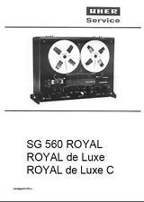 UHER SG560 ROYAL, ROYAL DE LUXE MANUAL ON CD-R