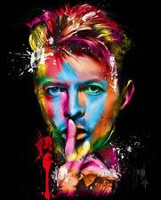 "David Bowie ""Shush"" Iconic Repro Abstract Canvas Box/ Print Art , A4, A3, A2, A1"