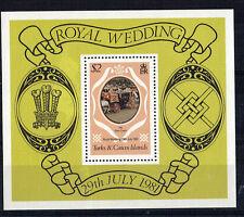 TURKS & CAICOS ISLANDS 1981 ROYAL WEDDING $2 MINIATURE SHEET MNH
