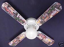"New HOT ROD CARS BURGER DINER Ceiling Fan 42"""