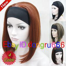 Half wig 3/4 wigs With headband Synthetic Hair Wig Cosplay Party wigs/Wig Cap