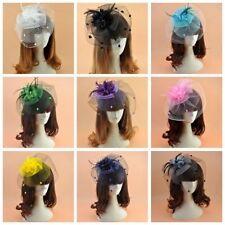 Chenille Dot Birdcage Veil Wedding Party Headpiece Fascinator Floral Tilt Hats