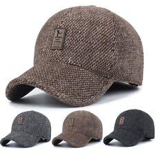 Herren Winter Warm Mütze Basecap mit Ohrenschützer Ohrenklappen Kappe Sport Hut