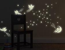 Wandtattoo nachtleuchtend Zahnfee Leuchtsterne-Set fluoreszierend Elfe bsm062