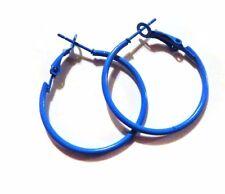 SMALL HOOP EARRINGS 1 INCH HOOP SIMPLE THIN HOOP EARRINGS ASSORTED COLORS