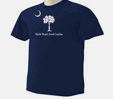 Palmetto Tree and Moon Myrtle Beach SC Palm Trees Beach T-Shirt