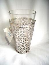 *CASABLANCA*Windlicht*/Vase*PURLEY*antik silber*Metall&Glaseinsatz*21,5cm*
