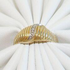 Ring Gold 333er Diamant 8 kt Goldringe Diamantringe Edelstein  Goldschmuck