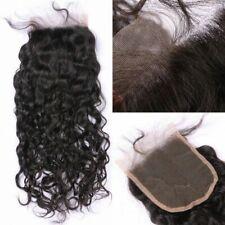 "Soft Brazilian Remy Human Hair 4x4"" human hair water wave lace closure"