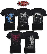 SPIRAL DIRECT Cap Sleeve T shirts/Rock/Metal/Roses/Angel/Cat/Women/Dark Wear/Top