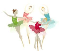Cupcake-Topper/Muffinspieße/Tortenfigur Ballerinas mit Tütü Rosa/Pink/Blau/Grün