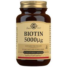 Solgar Biotin 5000µg - Choose either 50 or 100 capsules