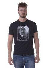 T-shirt Maglietta Emporio Armani EA7 Sweatshirt % Uomo Nero 3YPTE7PJ78Z-1200