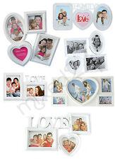 Fotorahmen Collage Bilderrahmen für mehrere Fotos Multirahmen Love Family weiß