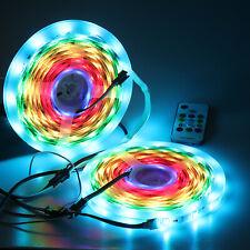 10M WS2811 LED Strip Light 5050 RGB IC Addressable Controller 12V Power Full Kit