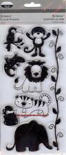 TPC STUDIO Clear Stamps JUNGLE  Monkey Lion Elephant