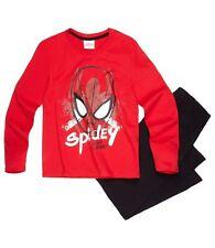 Garçons Enfants officiel Marvel SpiderMan rouge/Noir Pyjama Manches Longues