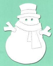 12 Die cut snowman hat & scarf 11x8.5cm sizzix xmas christmas snow card making