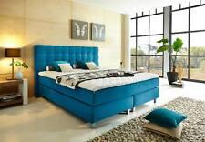 Boxspringbett 140, 160, 180, 200, 210 x 200, 210 - H2, H3, H4 blau Bahama 16