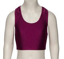Girls Ladies All Colours Lycra Dance Gym Sports Racer Back Crop Top KCTN-5 Katz