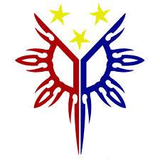 3-COLOR PHILIPPINES FLAG SUN STAR PINOY PINAY CUSTOM VINYL DECAL STICKER (PH-01)