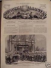 L'UNIVERS ILLUSTREE 1871 N 865 OBSEQUES DE M. LAMBRECHT