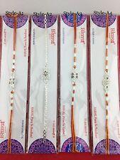 Single Rakhi Silver Thread Raksha Bandhan Hindu Indian Festival Rakhadi Single
