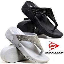 Donna bassi zeppa e tacco comfort a piedi Fit Infradito Fitness Tonificanti Sandali Scarpa