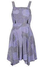 TOPSHOP DRESS Gingham Check Witch Hem Flippy Dress Sizes 12 14 16 £38 BNWT E2