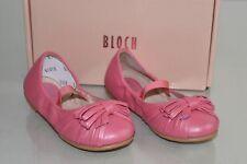 Nuevo Bloch Niño Niña Planos Infantil Seraphina Rosa Perla Zapatos Moño 22 5.5