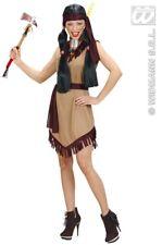 3 pezzi Costume indiana squaw, Vestito, Donna s-36-38 m-38-40 l-40-42