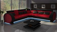 Wohnlandschaft Couch Polster Sofa Sitz Ecke Eck Wohnlandschaft Garnitur LT01 NEU