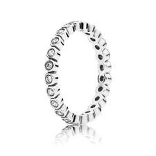 Genuine Pandora Alluring Small Brilliant Cut Silver Ring RRP $79 190941CZ