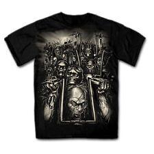 T Shirt nero con un motociclista Chopper - & Gothikmotiv Modello Zombie Biker