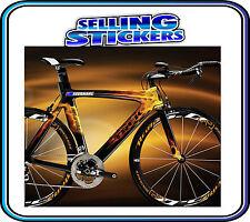 CUSTOM NAME STICKER WITH FLAG SET ROAD CYCLING BIKE BMX MOUNTAIN AVANTI GIANT S3