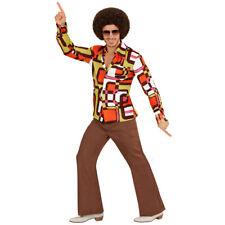 Schlager Outfit Kultiges 70er 80er Jahre Hemd für Herren Disco Herrenhemd Kostüm