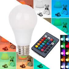 E27 3W 6W 8W 10W 12W RGB LED Light Color Change Lamp Bulb+Remote Control 85-265V