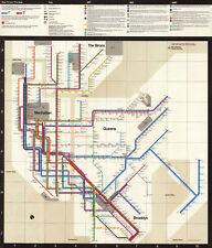 1972 New York City Subway Map Massimo Vignelli Art Print Poster System Map