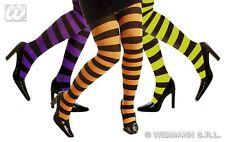Collant, Neon, a righe, Collant Donna Verde, Arancione Lilla 4770