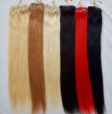 "20""-26"" 100S 100g Straight Loop Microtube Rings Link Remy Human Hair Extensions"