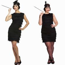 LADIES WOMENS FLAPPER CHARLESTON COSTUME DRESS HEN NIGHT FANCY DRESS PLUS SIZE