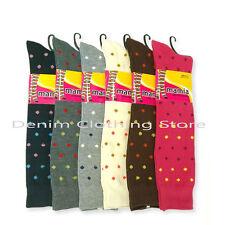 6~30 pairs Women Dots Knee High Socks Warm Winter Girl Wholesale Lot Size 9-11