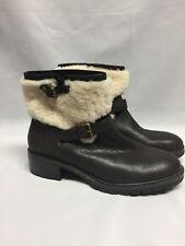 Coach Gabriella Boot 9.5 M Chestnut /Natural Vintage Leather/Shearling NIB A9056