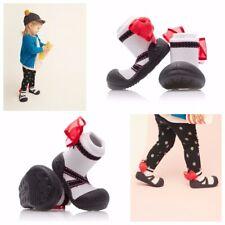 ATTIPAS BALLET BLACK ergonomical shoes slippers anti slip rubber sole newborn